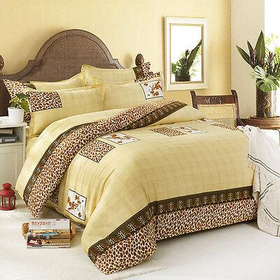 Single Double Queen King Size Bed Set Pillowcases Quilt Duvet Cover Leopard Dots