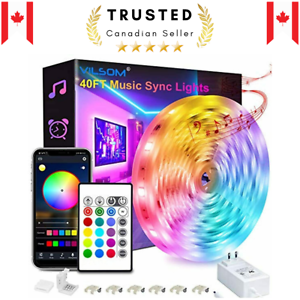 40FT Led Strip Lights, Smart APP Control with Remote Music Sync Led Light