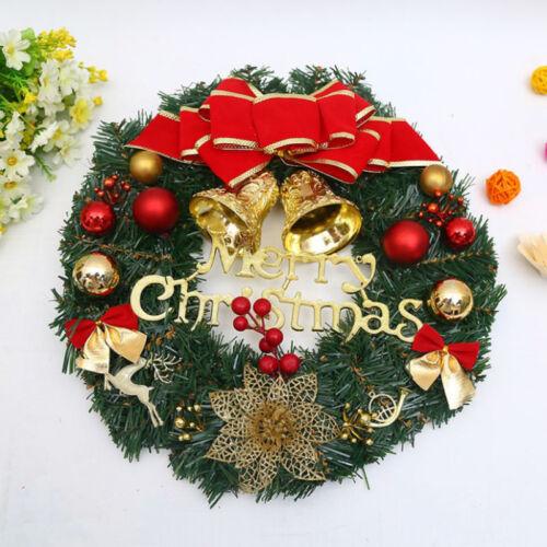 Weihnachtskranz Dekor Xmas Party Tür Wandbehang Garland Ornament 30cm