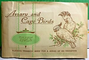 Aviary and Cage Birds-1933-Player's Transfer Book-John Player & Sons-Completed