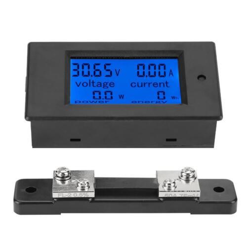 50A Shunt 6.5-100V 100A Digital DC Voltmeter Amperemeter Stromzähler Wattmeter