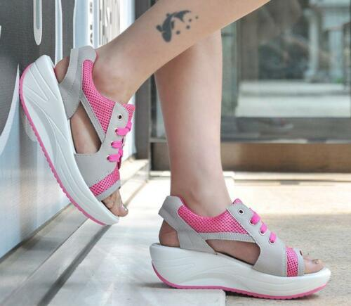 New Fashion Women Lady girl  Rocker Bottom Sandals Shoes Peer Toe Shape Up #
