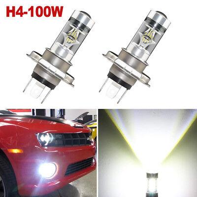 2X Auto Car H1 100W LED Fog DRL Driving Light Lamp Bulbs White Error Free 6000K