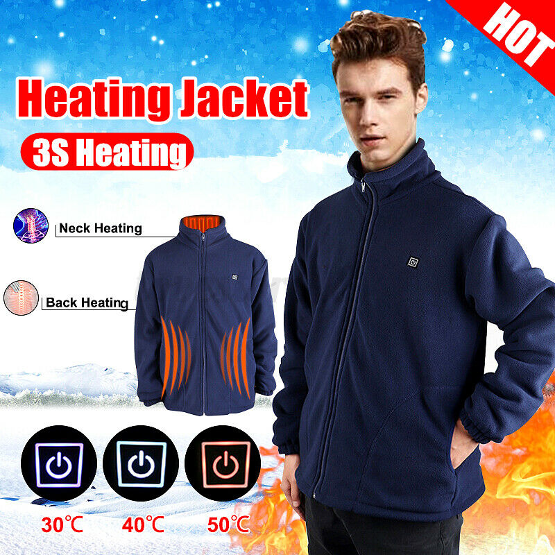 Men/'s L-3XL USB Heated Vest Jacket Electric Battery Heating Winter Warmer  ⇝ g