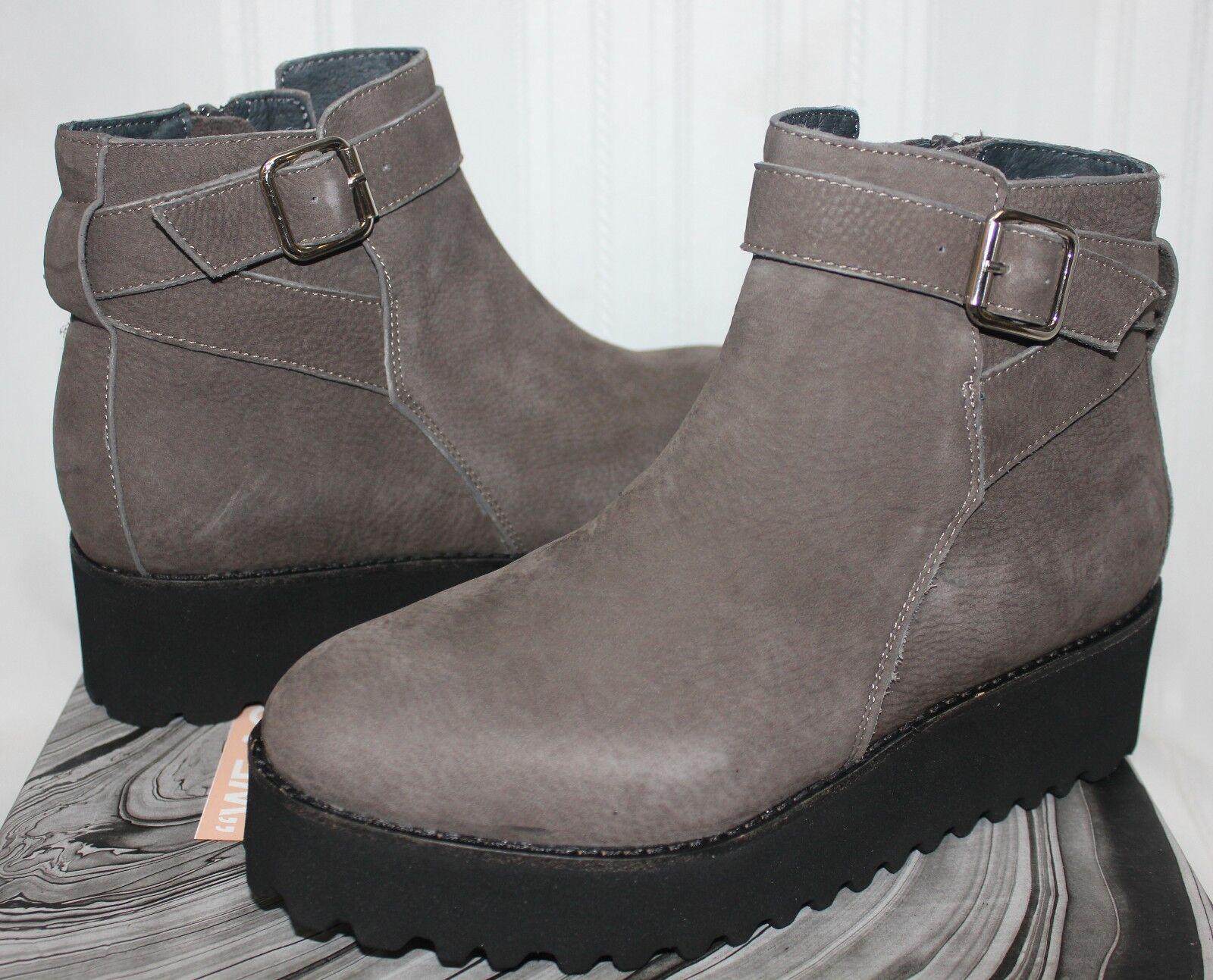 Jeffrey Campbell SARKUS platform ankle Stiefelies dark grau nubuck NEW