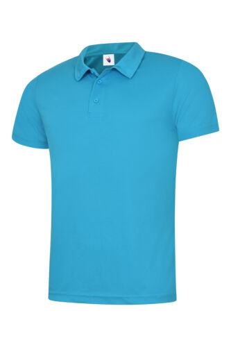 UC125 Uneek Mens Ultra Cool Polo Shirt 140gsm 100/% Polyester Breathable Fabric