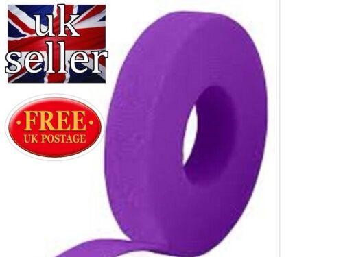 Gancho y bucle Velcro ® una envoltura ® doble cara Flejado 10 metros X 10mm en púrpura