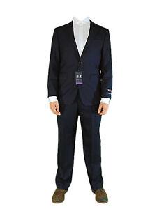 AUSTIN-REED-Mens-Navy-Herringbone-Smart-100-Wool-NEW-Suit-Jacket-Trousers