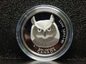 "Owl Coin  ""Bubo"" 50 Cent Canada Mint Condition.....<wbr/>..............<wbr/>..........RC42<wbr/>7"
