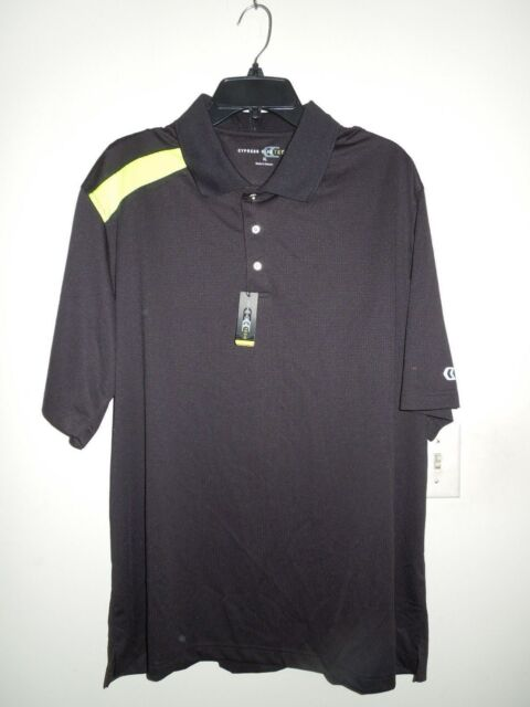 298574c6 Cypress Club Tech Performance Black Neon Yellow Golf Shirt XL for ...