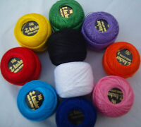 10 ANCHOR Embroidery Pearl Cotton. No.8, 10 Different Colours