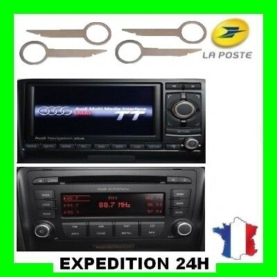 Cles demontage Autoradio Audi TT Navigation plus RNS-E RNS E