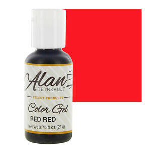 Details about Global Sugar Art Red Red Premium Food Coloring Gel 3/4 Ounce  by Chef Alan