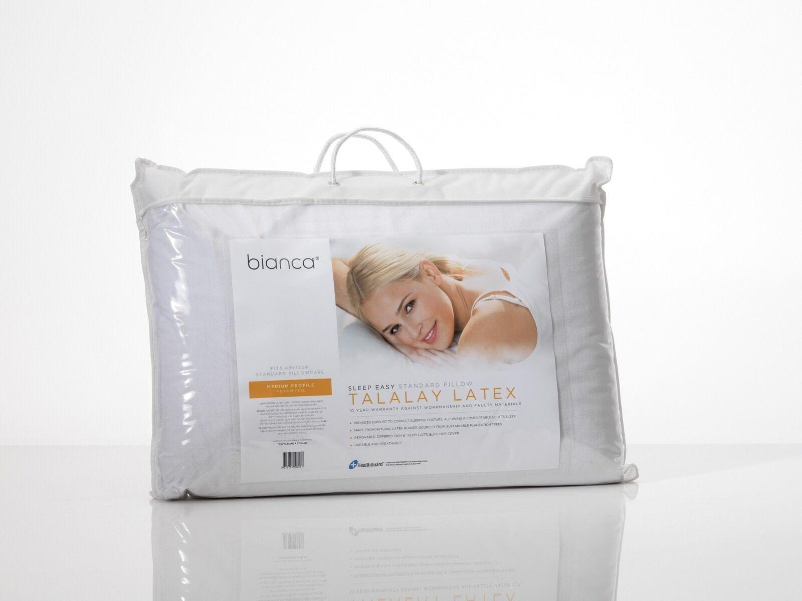 Weiß Sleep Easy Talalay Latex Medium Profile & Medium Feel Pillow