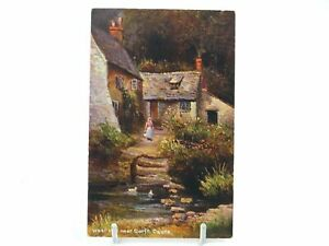 Antique-colour-printed-postcard-West-Mill-near-Corfe-Castle-S-Hildesheimer-amp-Co