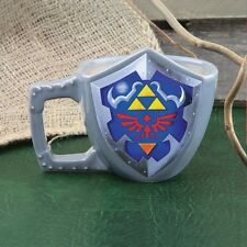 Nintendo The Legend of Zelda Link's Shield Shaped Coffee Mug Triforce Gamer Gift