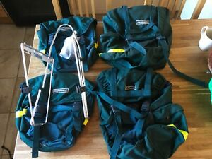 KARRIMOR-SET-OF-4-2-FRONT-AND-2-REAR-CYCLE-PANNIERS-with-front-rack
