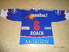 Adler Mannheim Original ewald Eishockey Trikot 2001/02 + Nr.6 Roach Gr.XL