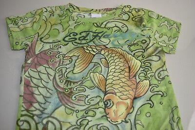 Kinder T-Shirt Shirt kurzarm Tattoo Rockabilly Oldschool Six Bunnies Koi Japan