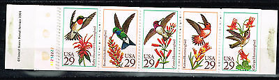 Topical Stamps Obliging Us Fauna Birds Hummingbirds And Fowers Set 1992 Mnh