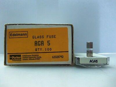 Buss Fuses AGA-5 BP//AGA-5 Glass Fuses 5pk