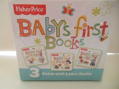 Baby's First Books FISHER PRICE * Baby's 1st Words * 1st Farm * 1st ABCs * NEW