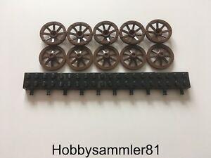 8 x Lego System Wagen Rad klein braun 27 mm Speiche Kutsche 6079 6088 2470 LEGO Bau- & Konstruktionsspielzeug