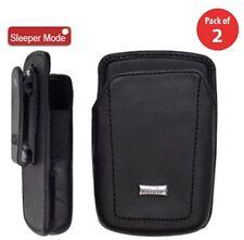 2x RIM OEM ACC-04746-010 Leather Holster Swivel Clip Case BlackBerry 67xx 77xx