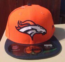 New Era On Field Denver Broncos 59Fifty Fitted Hat Cap 7-1/2 NE TECH Orange NEW