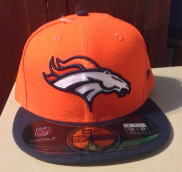92dc699fd98 Era 59fifty Onfield Denver Broncos Fitted Cap Orange Navy White 3d NFL 7 1 2