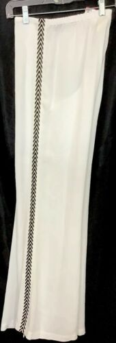 Taille Des Éclair Sur Rayures Jambes Large Figue Pantalon Nwt Fermeture Avec Les 395 Blanc Xs Simon Côté nPBRZq