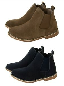 BOYS CHELSEA DEALER BOOTS REAL SUEDE