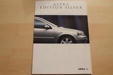 76366) Opel Astra Edition Silver Prospekt 09/1998