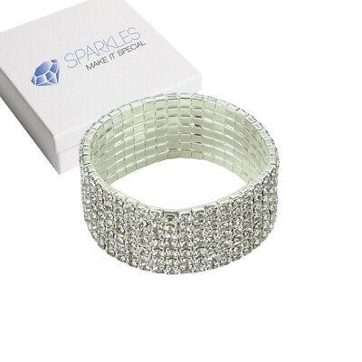 Fashion Crystal Rhinestone Stretch Bracelet - Bangle Wedding Bridal Wristband