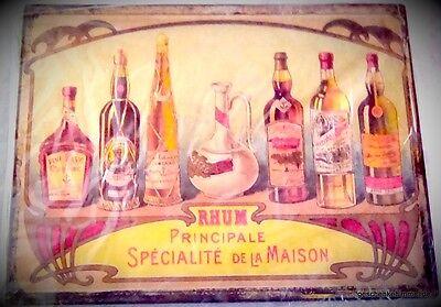 Wandschild Rhum Prinzipale Blech Bild antik Vintage Eisen Wand Deko Geschenk