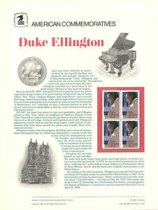 #262 22c ((LOT of 5))  Duke Ellington #2211 - 3 USPS Commemorative Stamp Panels