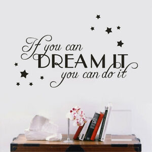 dream learn quotes vinyl wall stickers bedroom living room decals