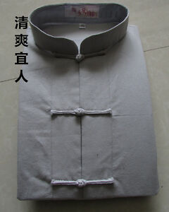 af94bd7f28 Men s Cotton Traditional Chinese Tang Suit Coat clothing Kung Fu Tai Chi  Uniform