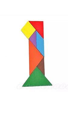 """Sistematico I Bambini In Legno Iq Puzzle Intelligente Tangram Rompicapo Puzzle. 4.5""""x4.5"""" (l, W)-mostra Il Titolo Originale Distintivo Per Le Sue Proprietà Tradizionali"""