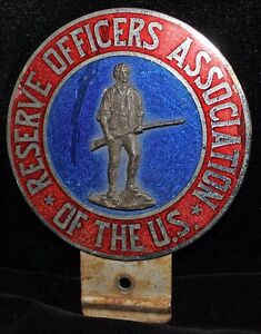 Image Is Loading 1920 039 S Reserve Officers Association Automobile Badge