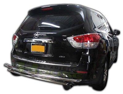 Fits:2013-2016 Nissan Pathfinder Wynntech Rear Bumper Guard Double Pipe