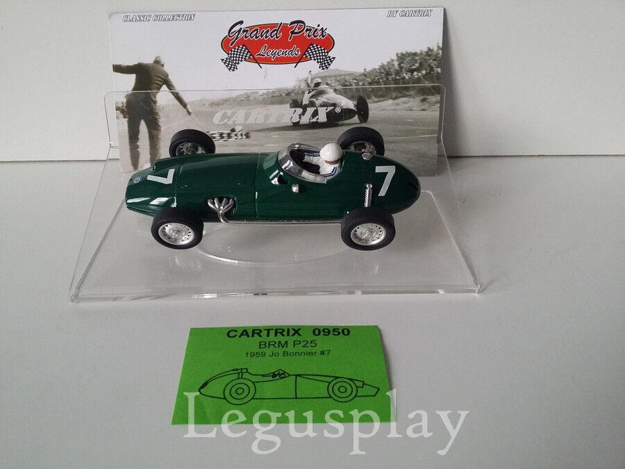 Slot car SCX Scalextric Cartrix 0950 BRM P25 1959 Jo Bonnier