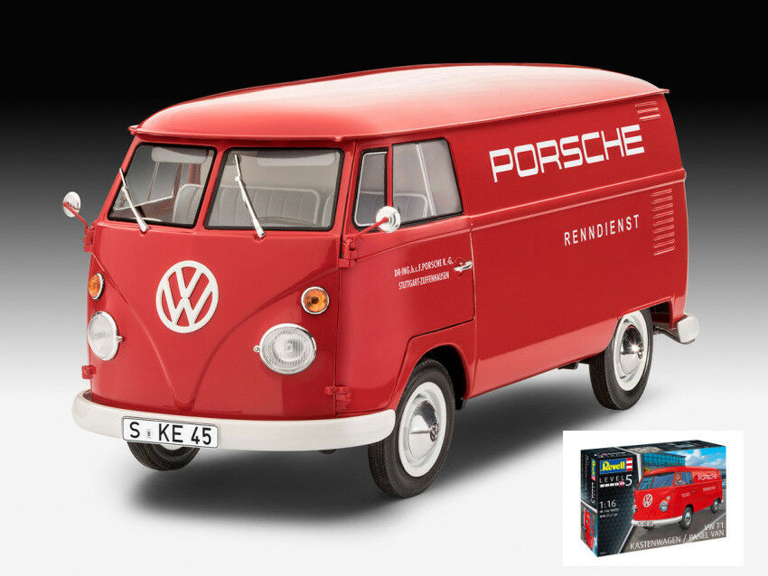 Volkswagen VW T1 Kastenwagen Panel Van rouge Plastic Kit 1 16 Model 07049 REVELL