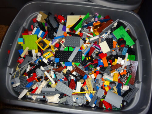 Cleaned Sanitized Bricks /& other assorted pieces Lot 2 pounds LBS of Bulk Legos