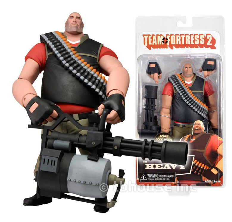 7  THE HEAVY figure TEAM FORTRESS 2 limited edition rosso neca DEMO w IN-GAME CODE