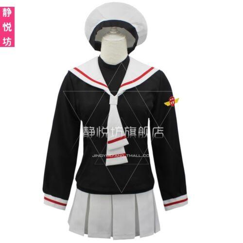 Anime Carte Capteur Sakura Girl Sailor School Uniform Cosplay Costume Avec Chapeau