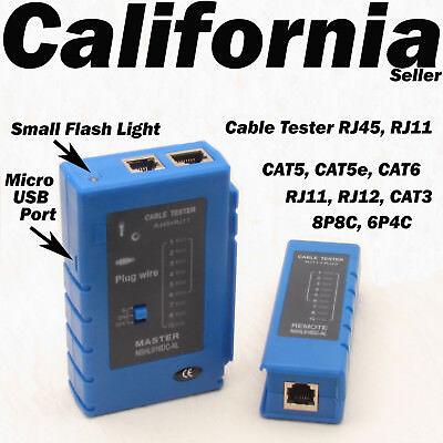 Network LAN USB Cable Tester Ethernet RJ45 RJ11 RJ12 Cat5 UTP US Shipping