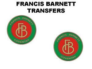 Francis-Barnett-Tank-Decal-Transfer-BSA-Sold-as-a-Pair-Motorcycle-AMC-Green