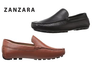NEW Zanzara Men/'s Picasso II Slip-On Loafer Dress Shoes Black Pick Size