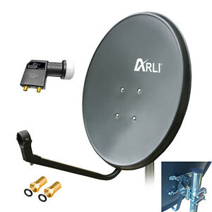 60cm-HD-Sat-Anlage-Digital-Twin-LNB-4K-2-Teilnehmer-Schuessel-Antenne-Spiegel-UHD